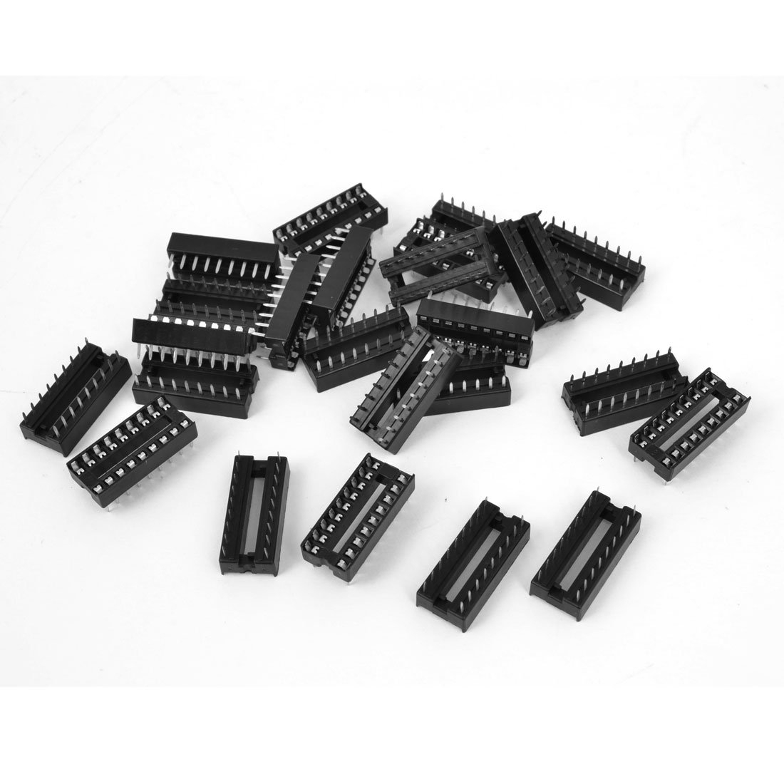 25 Pcs 2.54mm PCB Board 2 Row 18-Pin DIP Solder Type IC Socket Adapter