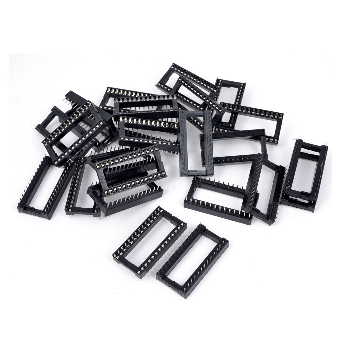 2.54mm Pitch Through Hole 28 Pins DIP IC Socket PCB Board Adapter 25 Pcs