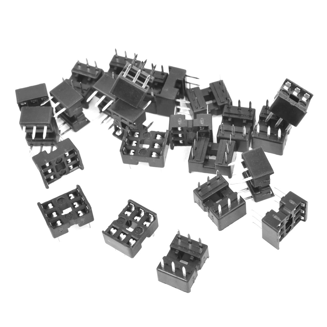 25 Pcs 2.54mm PCB Board 2 Row 6-Pin DIP Solder Type IC Socket Adapter