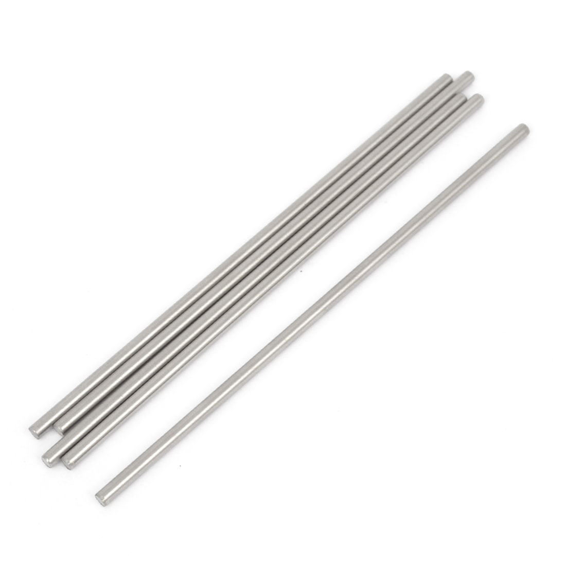 5 Pcs RC Airplane Model Part Stainless Steel Round Rods Axles Bars 3mm x 120mm