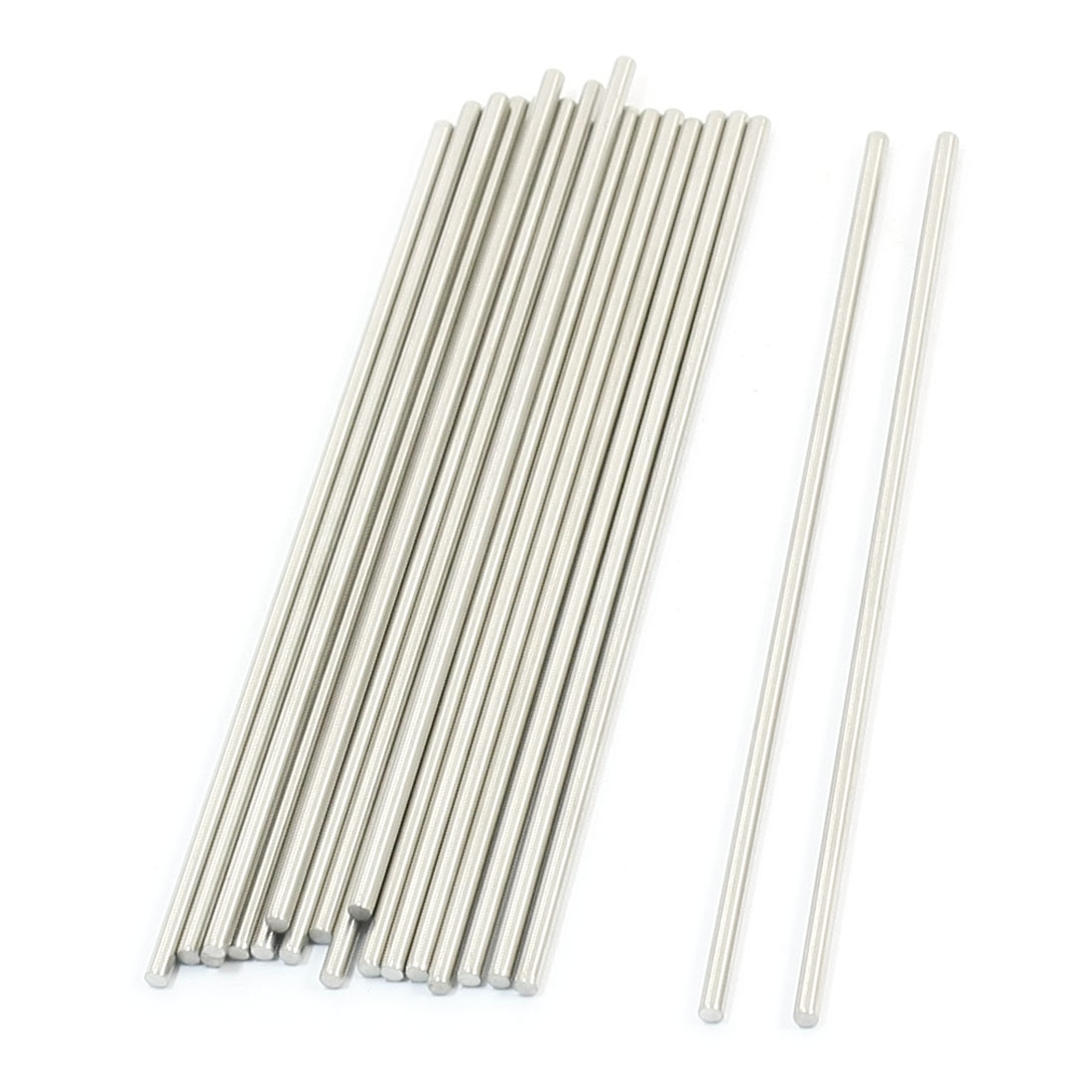 20 Pcs RC Toy Car Model Part Stainless Steel Round Rods Axles 3mm x 140mm