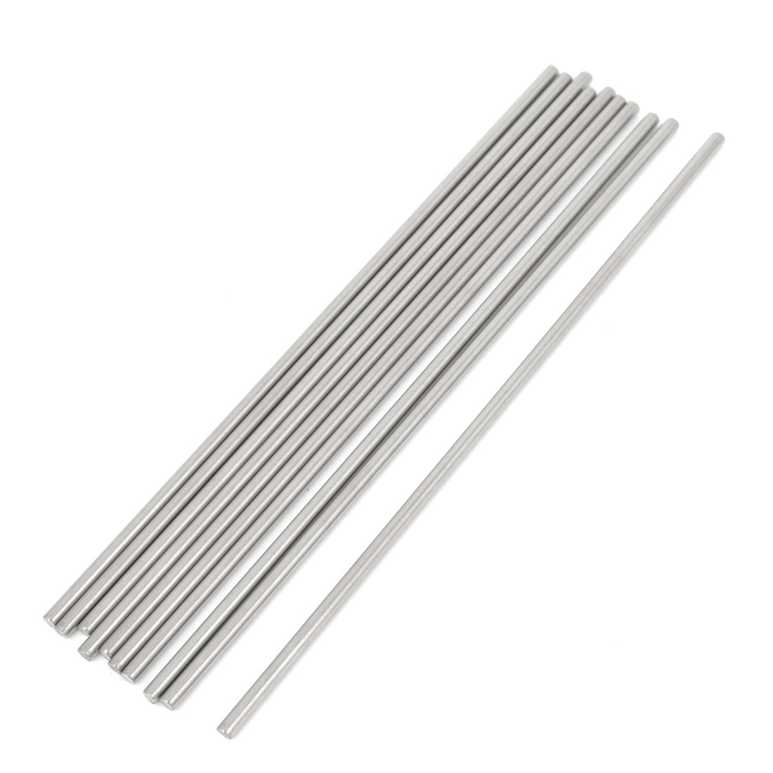 10 Pcs RC Airplane Model Part Stainless Steel Round Rods Axles Bars 3mm x 150mm