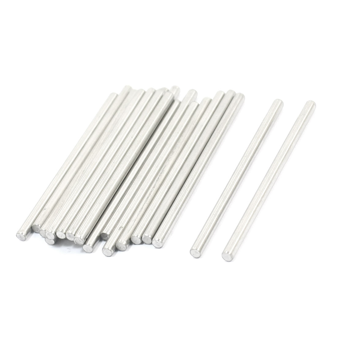 20 Pcs RC Toy Car Model Part Stainless Steel Round Rods Axles 3mm x 60mm