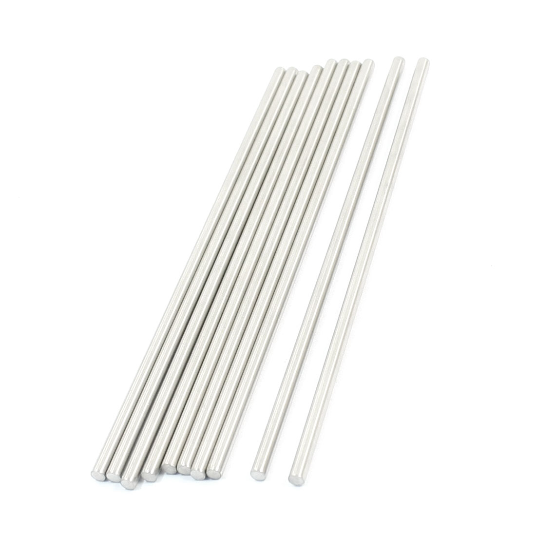 10 Pcs RC Toy Car Model Part Stainless Steel Round Rods Axles 3mm x 120mm