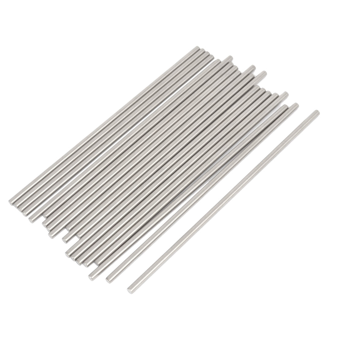20 Pcs RC Airplane Model Part Stainless Steel Round Rods Axles Bars 3mm x 130mm