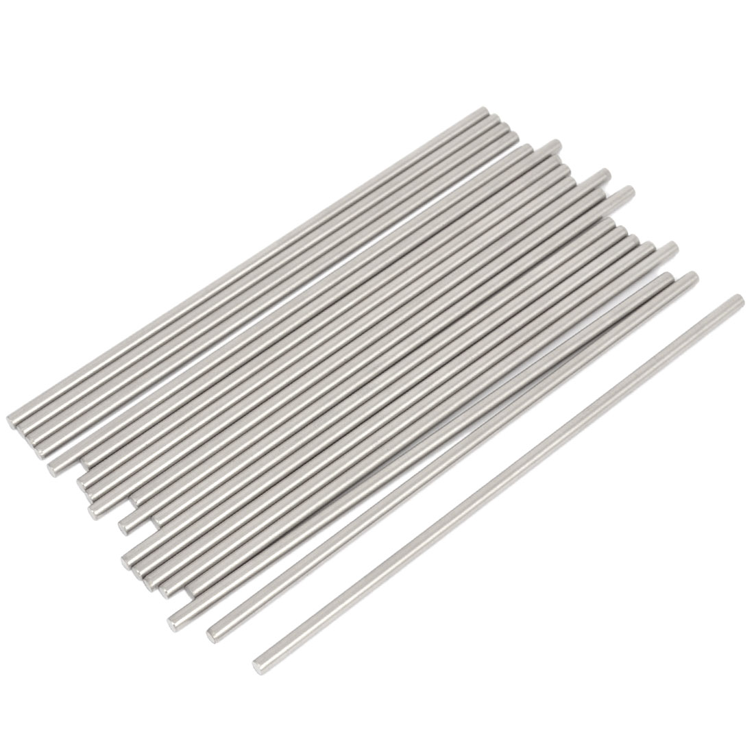 20 Pcs RC Airplane Model Part Stainless Steel Round Rods Axles Bars 3mm x 110mm