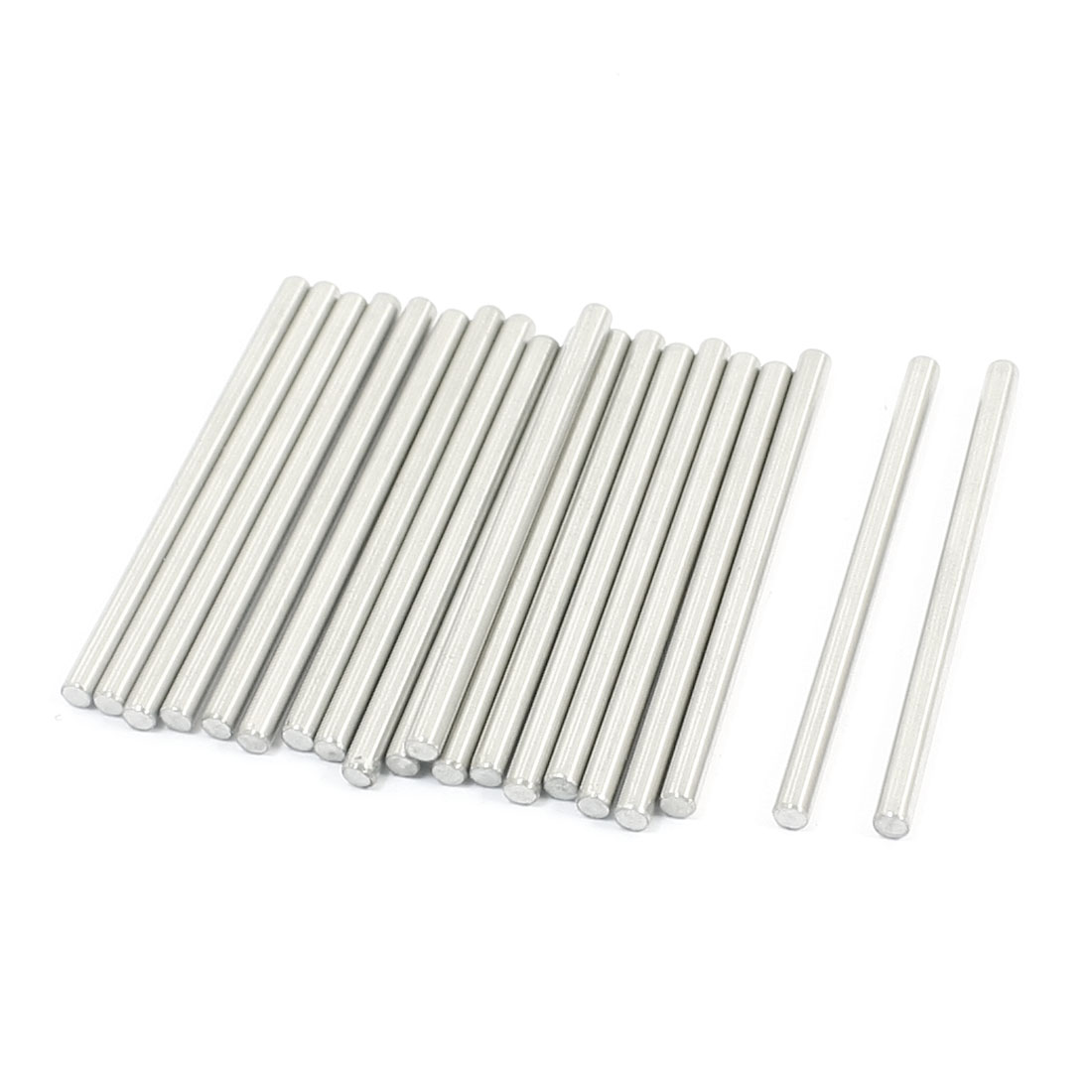 20 Pcs RC Toy Car Model Part Stainless Steel Round Rods Axles 3mm x 50mm