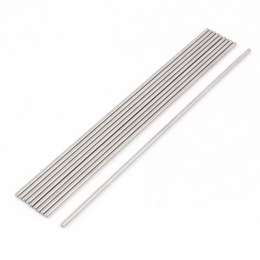 10 Pcs RC Airplane Model Part Stainless Steel Round Rods Axles Bars 3mm x 200mm