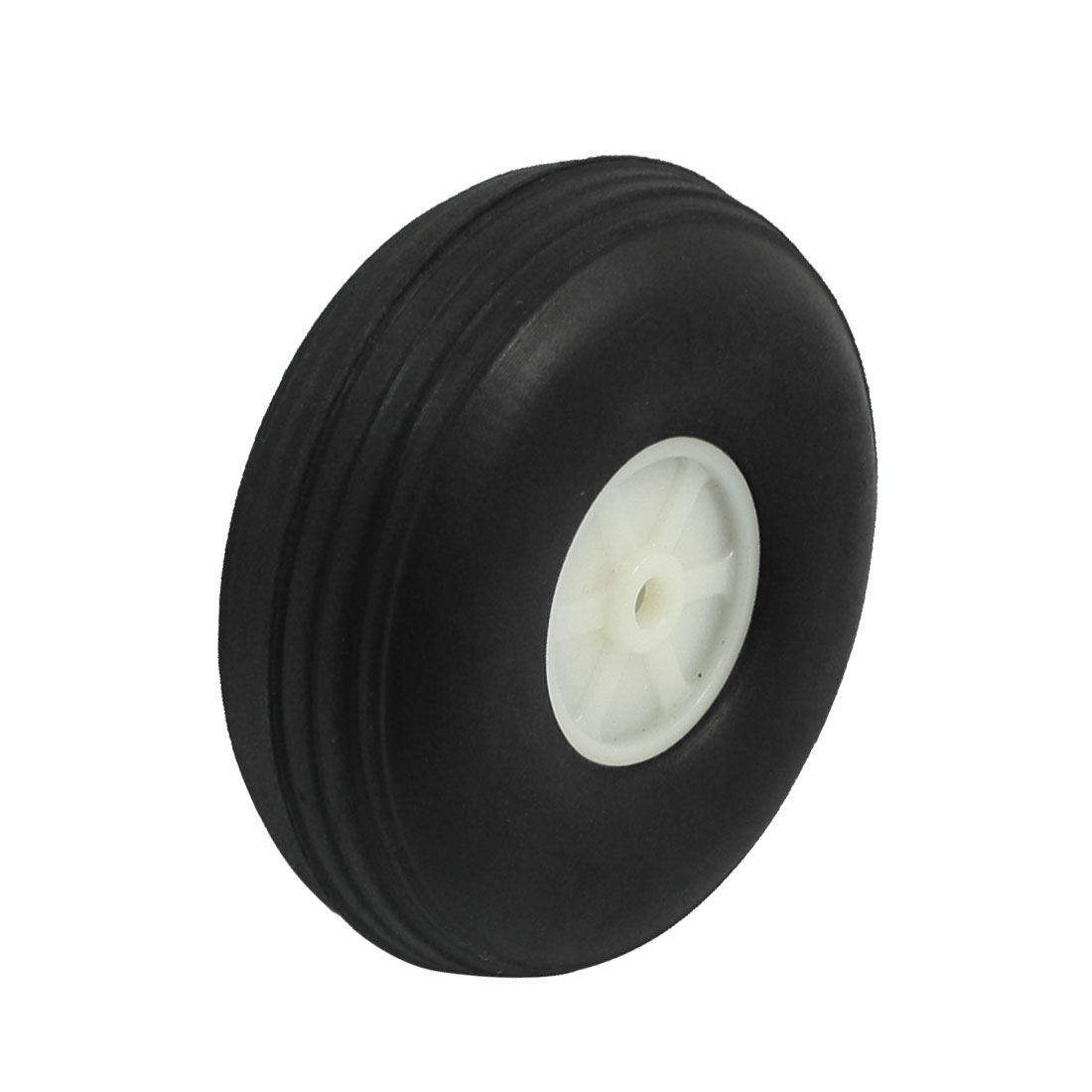 "DIY RC Airplane Plastic Hub 2.5"" Diameter Foam Tire PU Wheel"