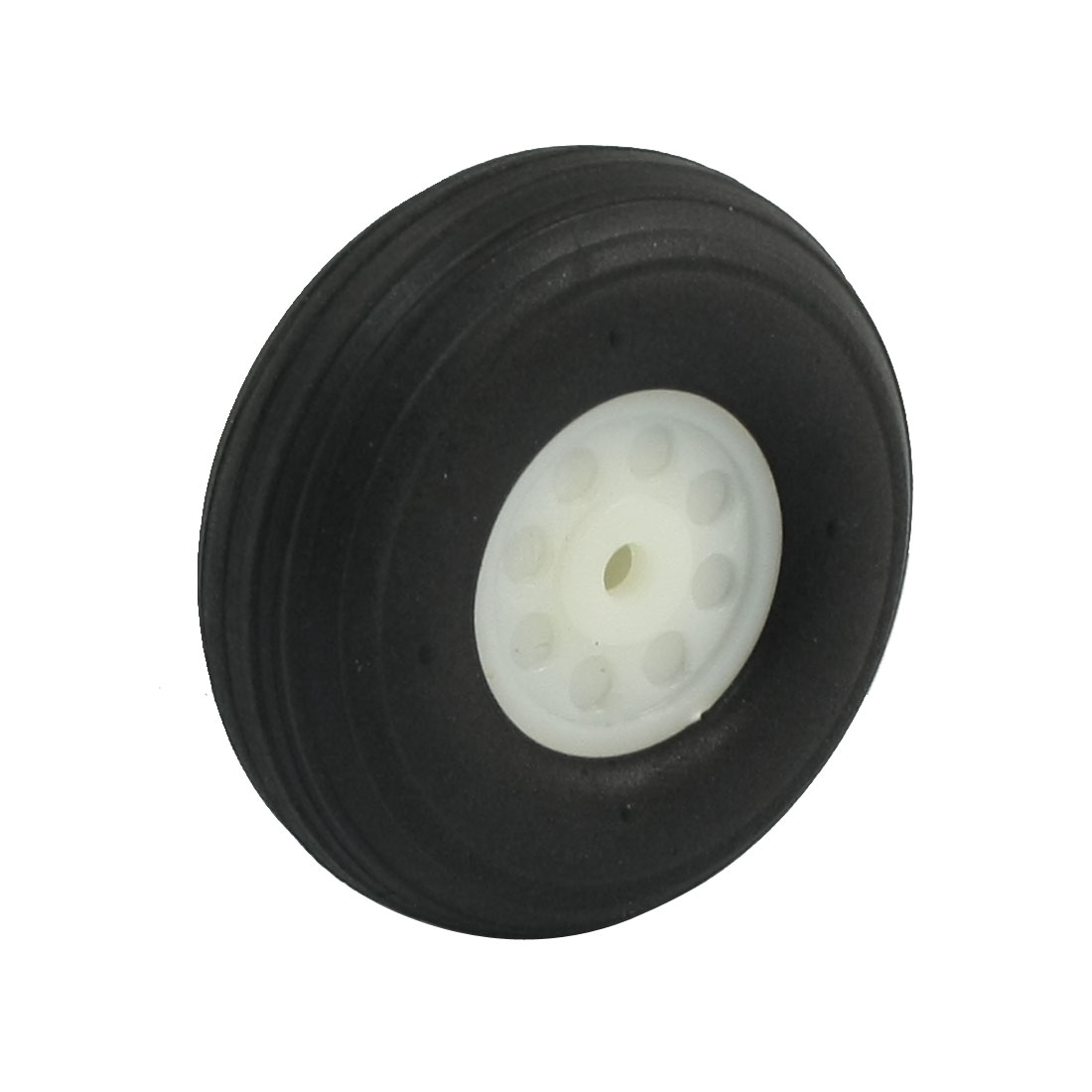"DIY RC Airplane Plastic Hub 1.5"" Diameter Foam Tire PU Wheel"
