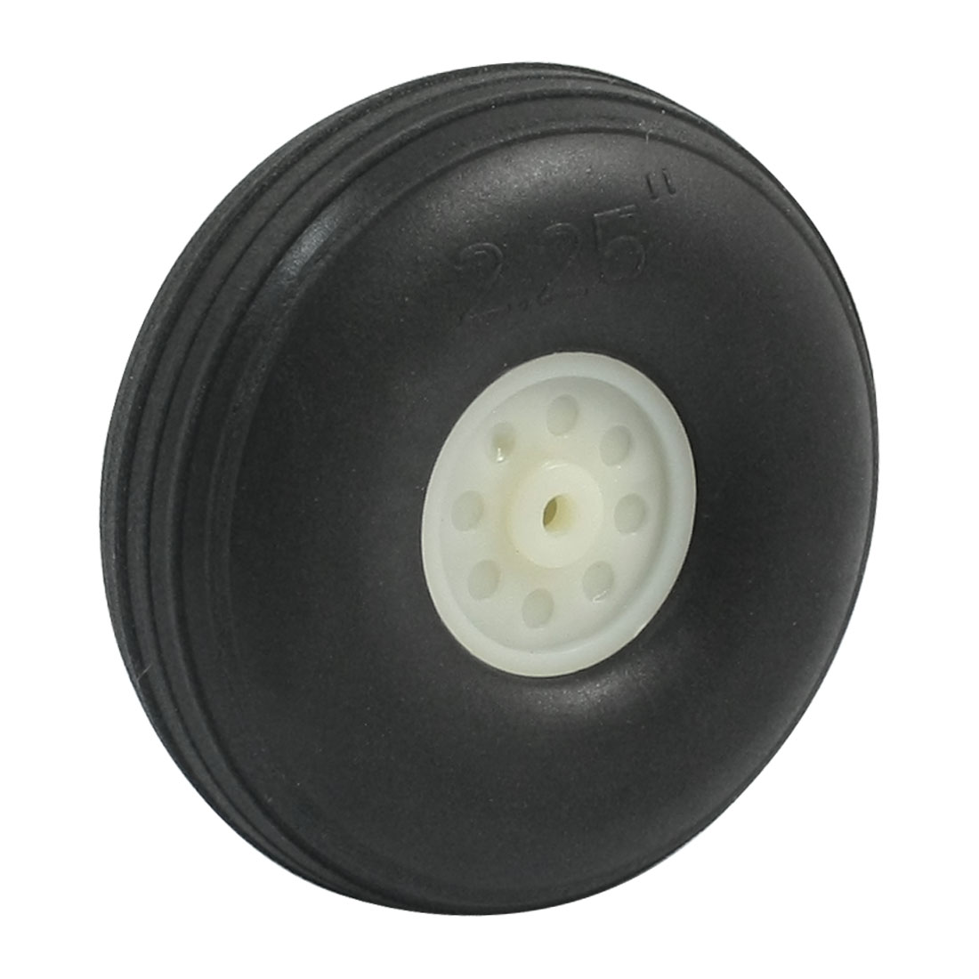"DIY RC Airplane Plastic Hub 2.25"" Diameter Foam Tire PU Wheel"