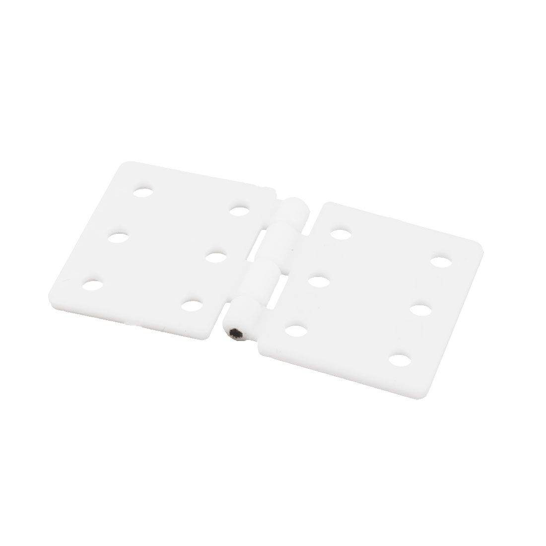 Spare Parts 6 Mount Hole Foldable White Nylon Pinned Hinge 28 x 16mm