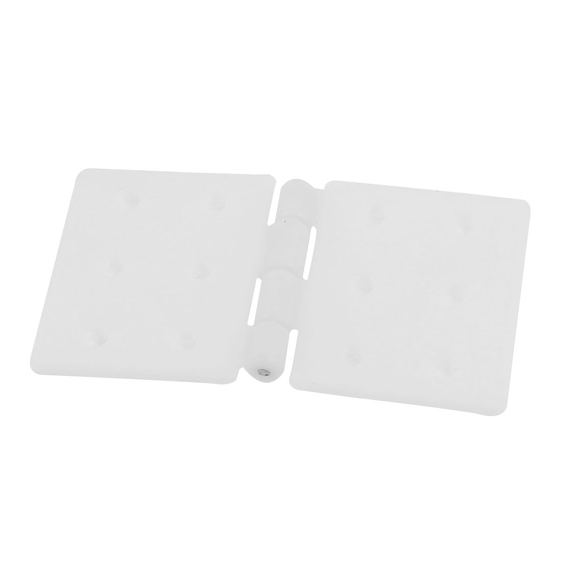 Spare Parts 6 Mount Hole Foldable White Nylon Pinned Hinges 37 x 20mm
