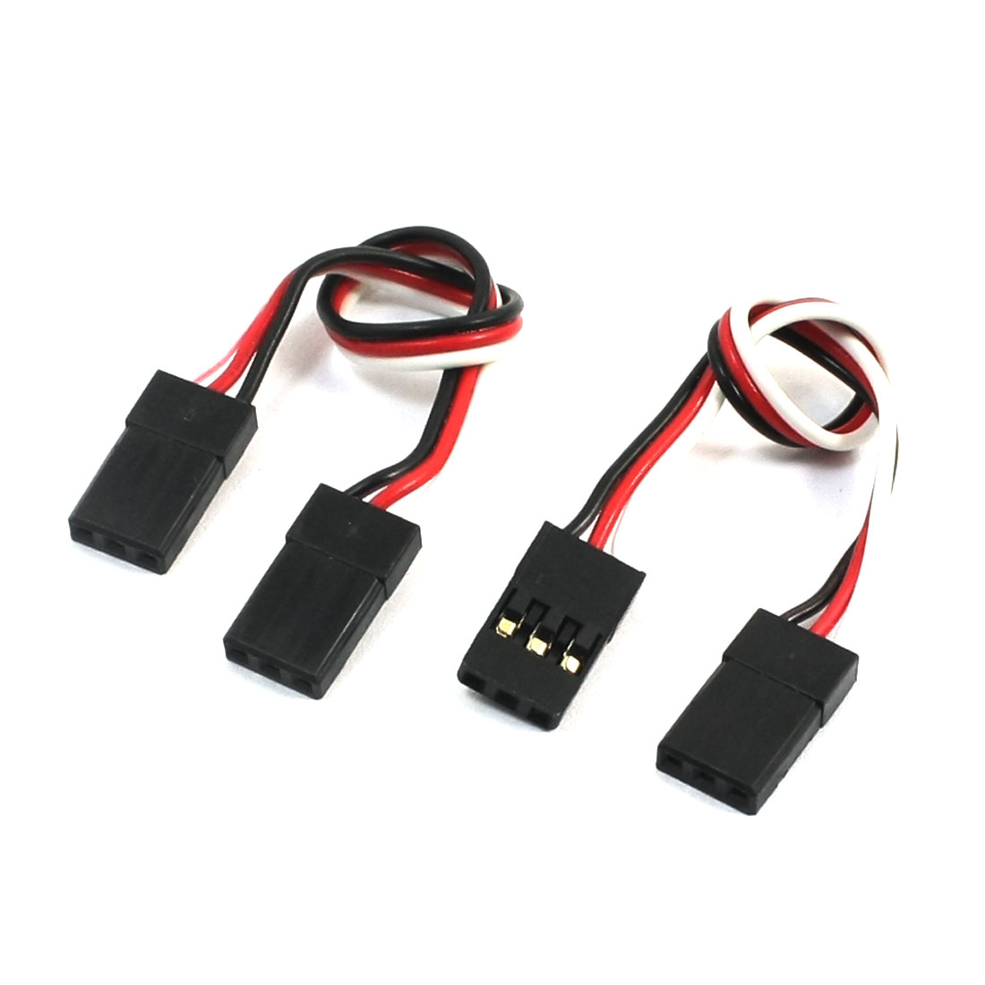 2Pcs Male to Male J Connector Servo Extension Lead Wire Cable for RC Air Plane 100mm Long