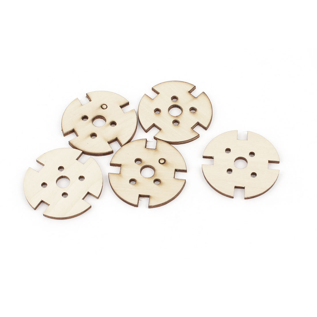 5Pcs DIY RC Toy Plane Airplane Aircraf 2212 2208 Brushless Motor 4 Vanes Round Wooden Mount 40mm x 2.5mm
