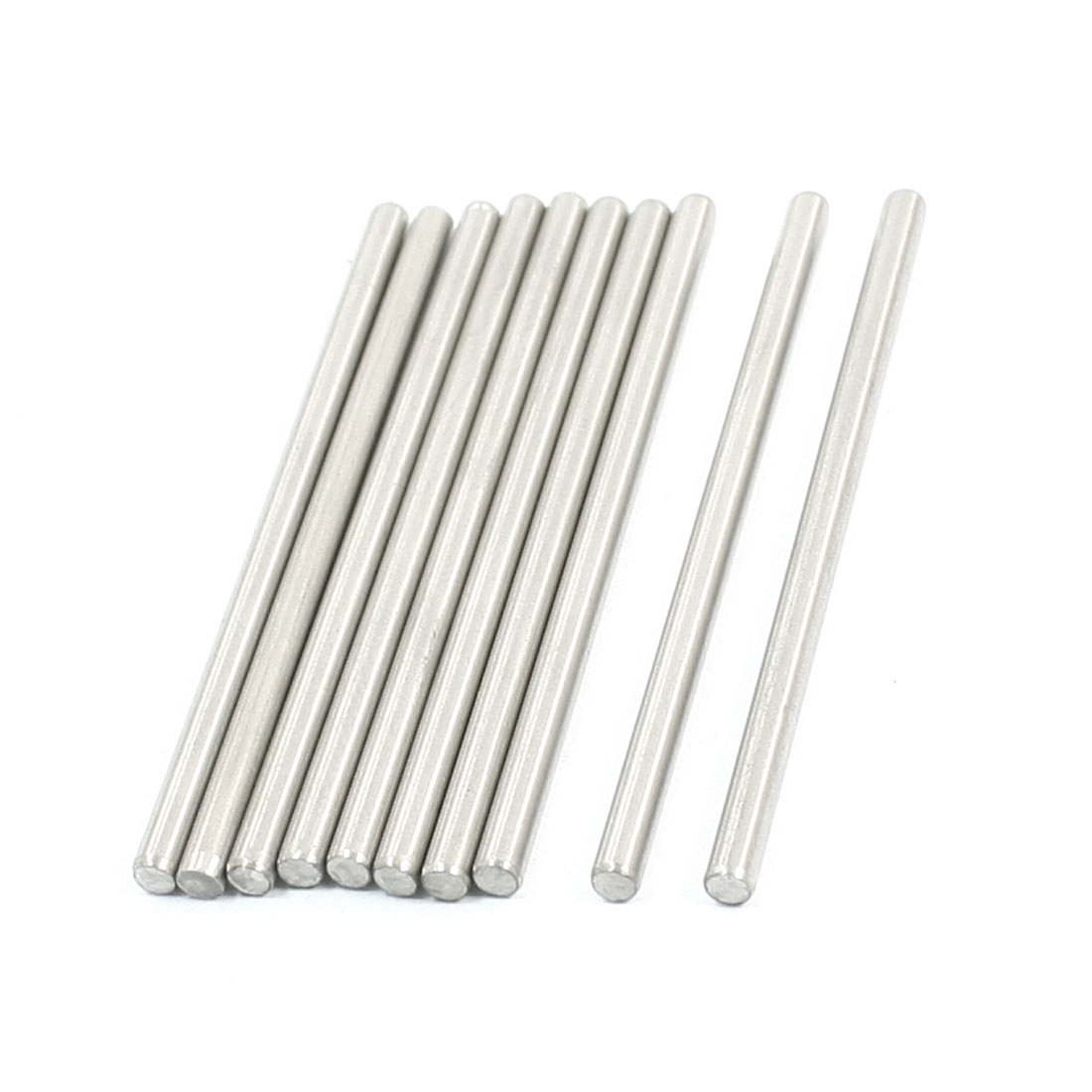 10 Pcs RC Toy Car Model Part Stainless Steel Round Rods Axles 3mm x 60mm