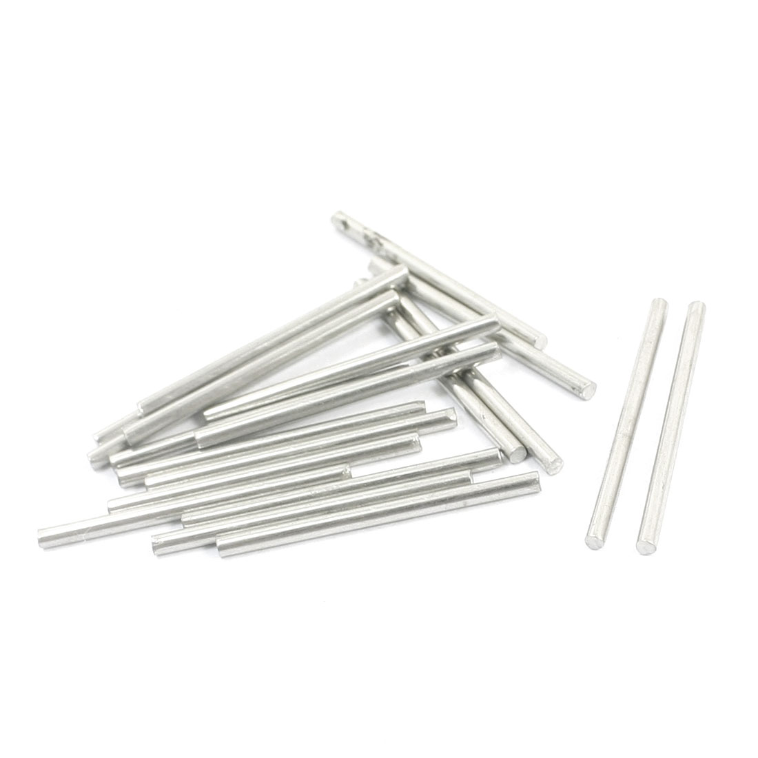 20 Pcs RC Toy Car Model Part Stainless Steel Round Rods Axles 1.6mm x 25mm