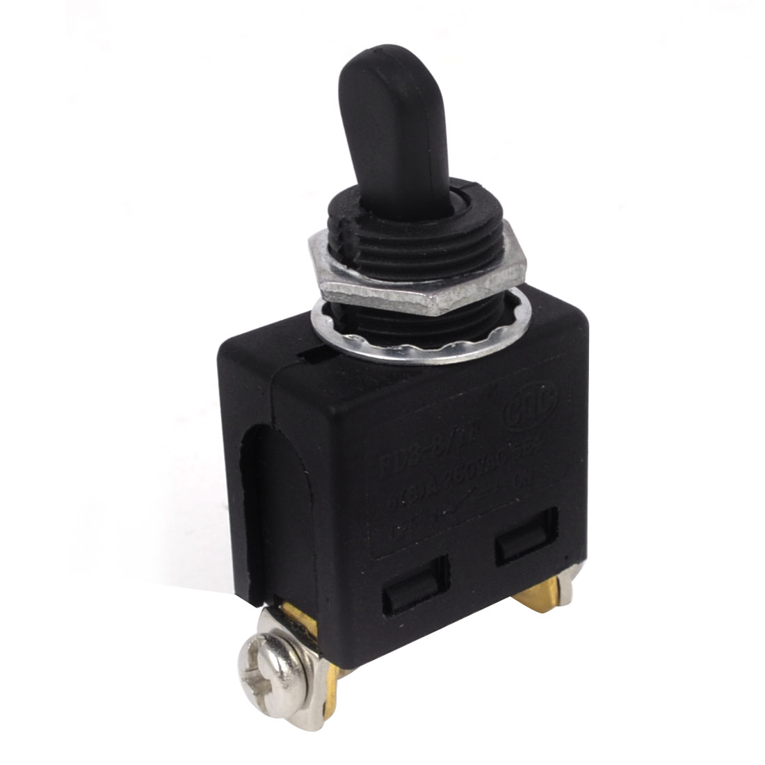AC 250V 6/8A SPST ON/OFF 2 Screw Terminals Latching Toggle Switch