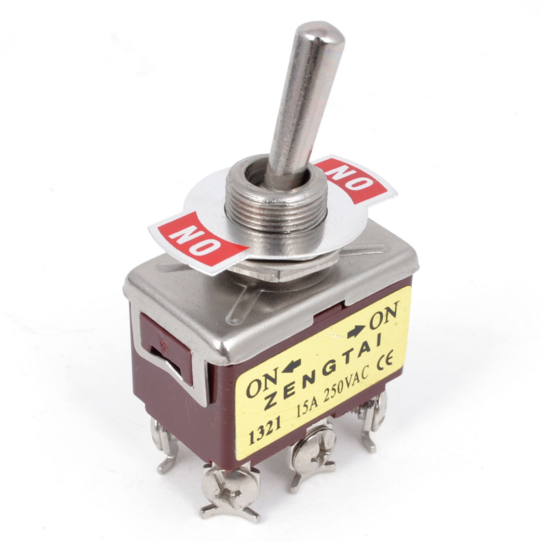 AC 250V 15A DPDT ON/ON 6 Screw Terminals Latching Toggle Switch