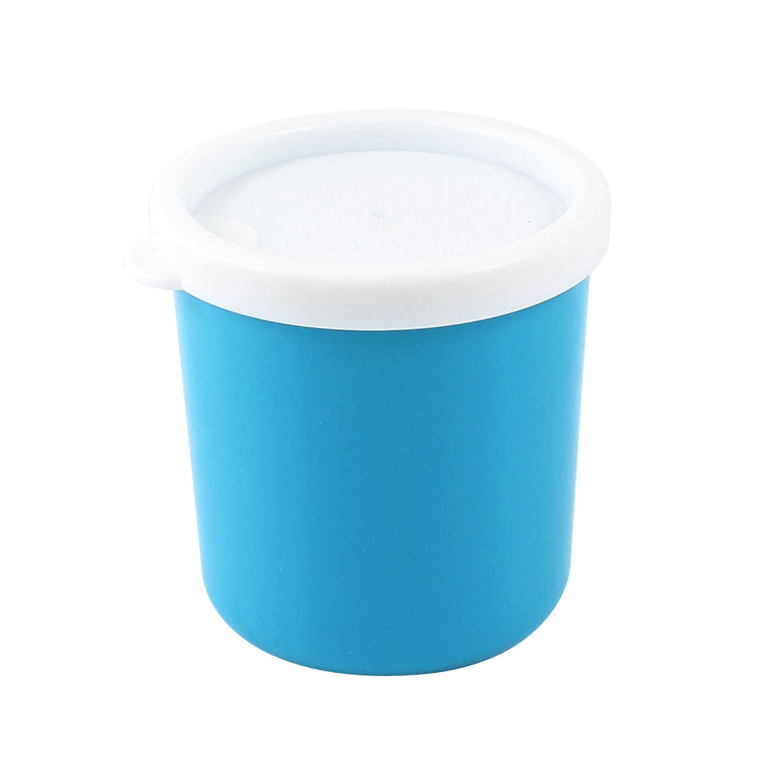 Home Washroom 210ml Capacity Drinking Water Mug Cup Teal Blue w Cap
