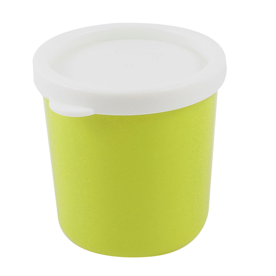 Round Yellow Green Plastic Nonslip 210ml Water Drinking Cup Mug w Lid