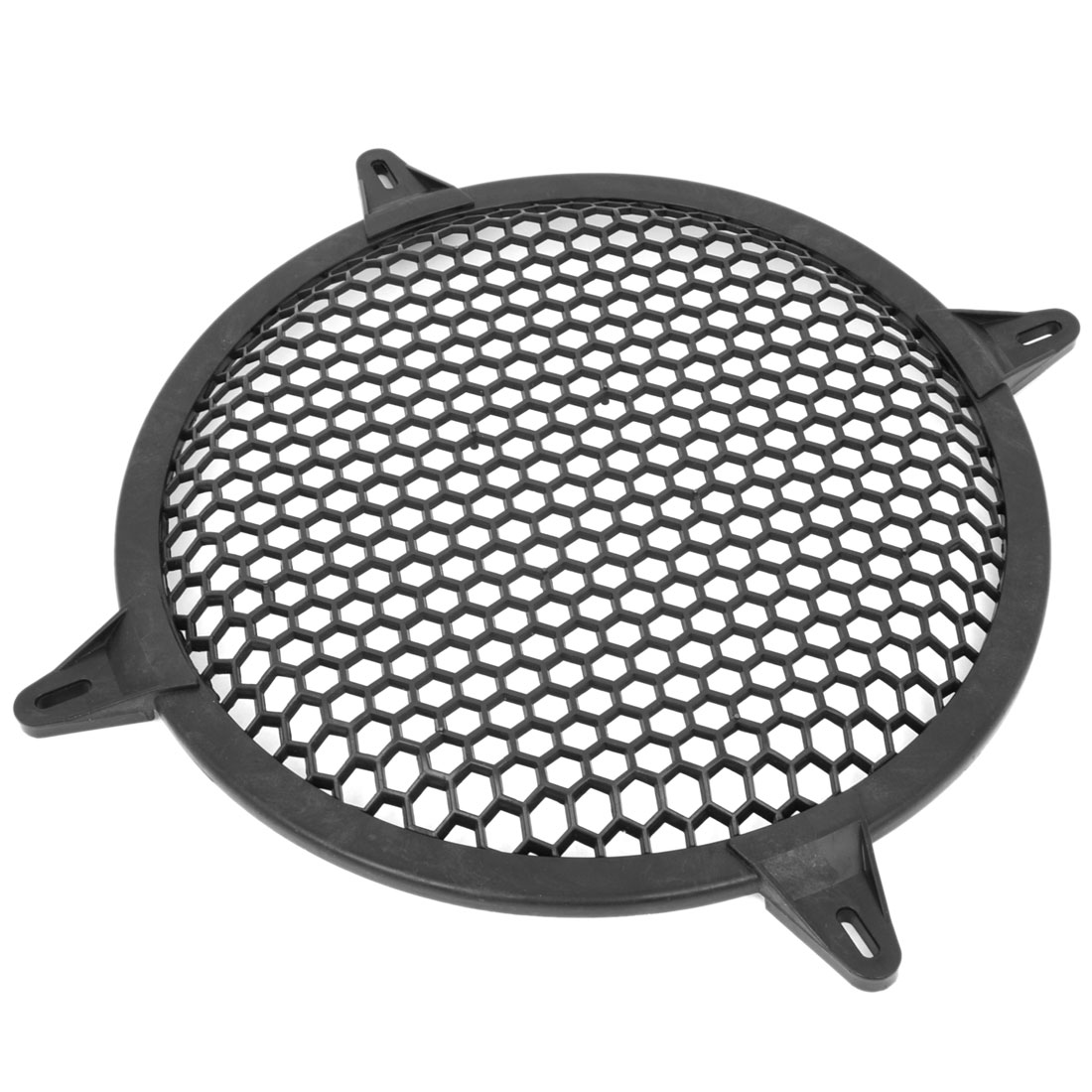 "Black Plastic Mesh Style Round Car Woofer Cover Speaker Grill 12.8"" Dia"