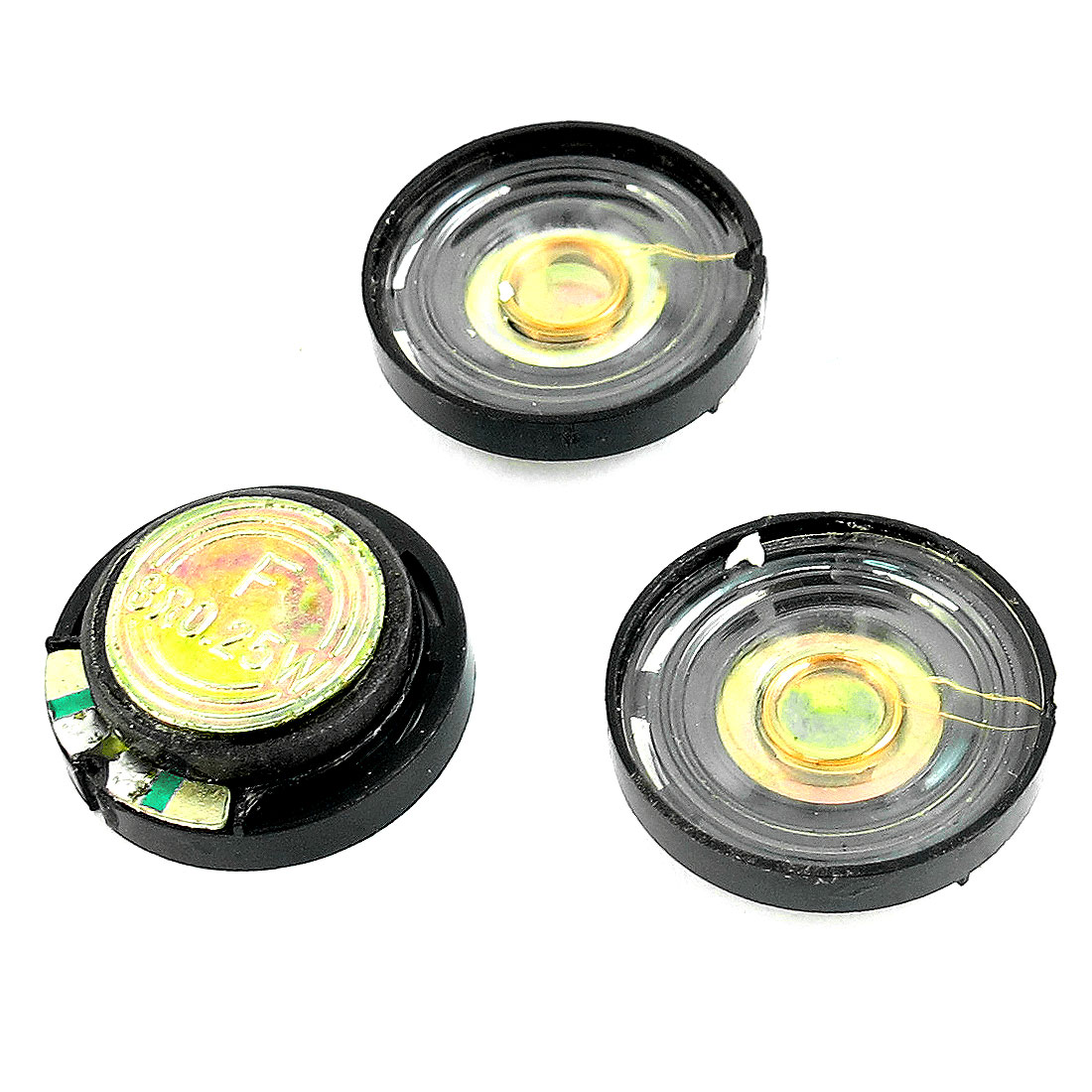 3 Pcs 8 Ohm 0.25W 21mm Diameter Plastic Housing Round Magnet Speaker Loudspeaker for Electric Toys