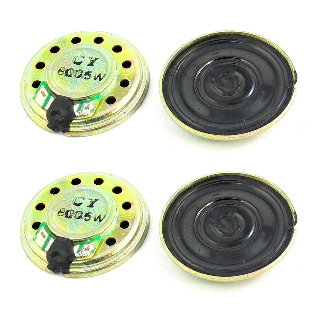 4Pcs 0.5W 8 Ohm 20mm Dia Metal Housing Round Magnet Speaker Loudspeaker Horn for Electric Toys