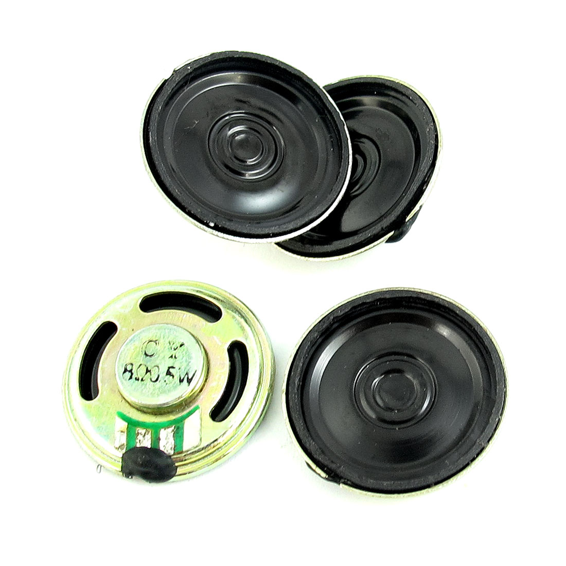 4Pcs 0.5W 8 Ohm 23mm Diameter Metal Shell Round Magnet Speaker Loudspeaker Horn for Electric Toys