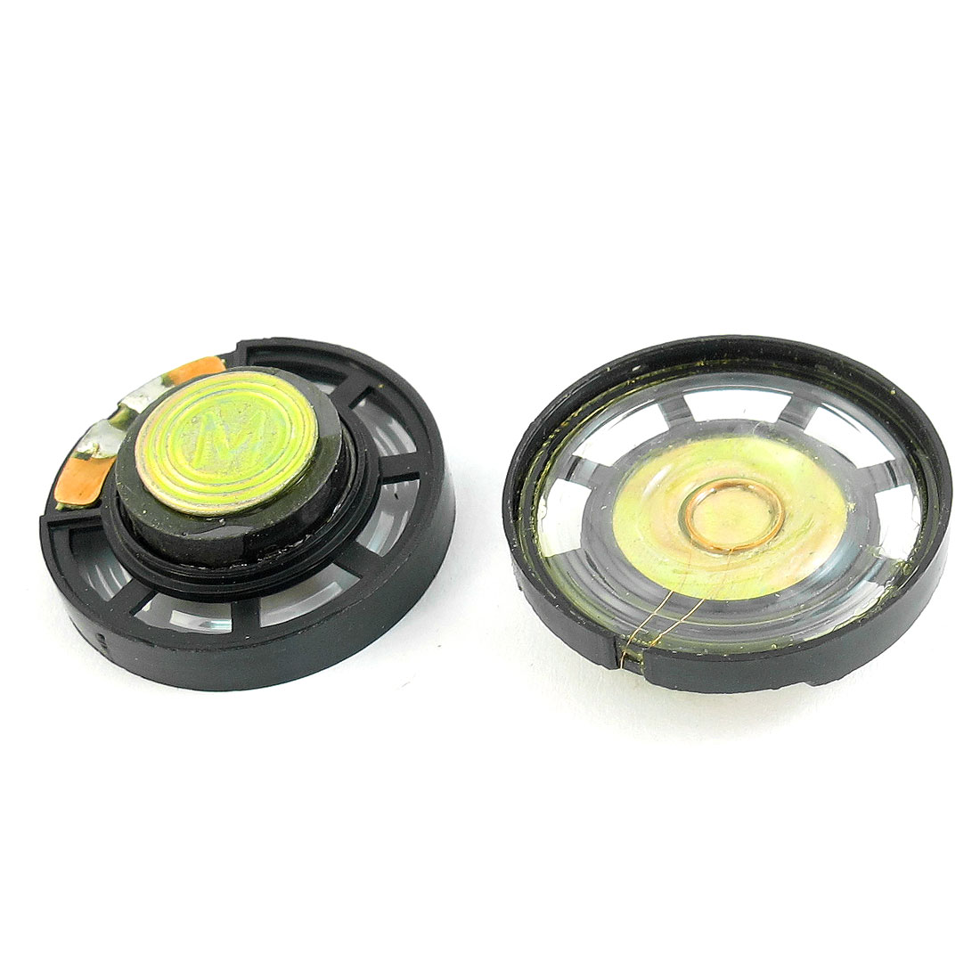 2 Pcs 8 Ohm 0.25W 29mm Diameter Plastic Housing Magnet Speaker Loudspeaker Horn for Radio Electric Toys