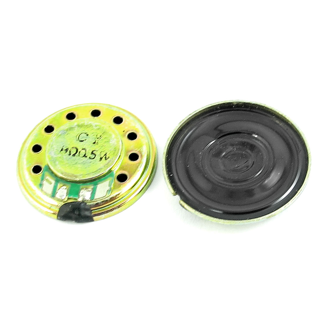 2 Pcs 0.5W 8 Ohm 20mm Dia Metal Shell Magnet Speaker Horn Loudspeaker for Radio Electric Toys