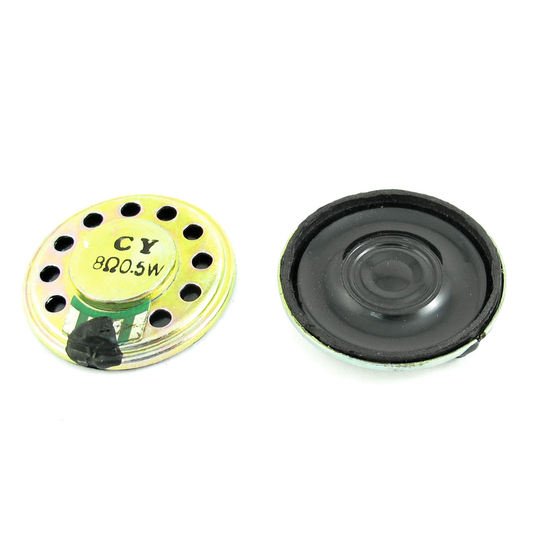 2 Pcs 0.5W 8 Ohm 28mm Diameter Round Magnet Speaker Loudspeaker Horn for Radio Electric Toys