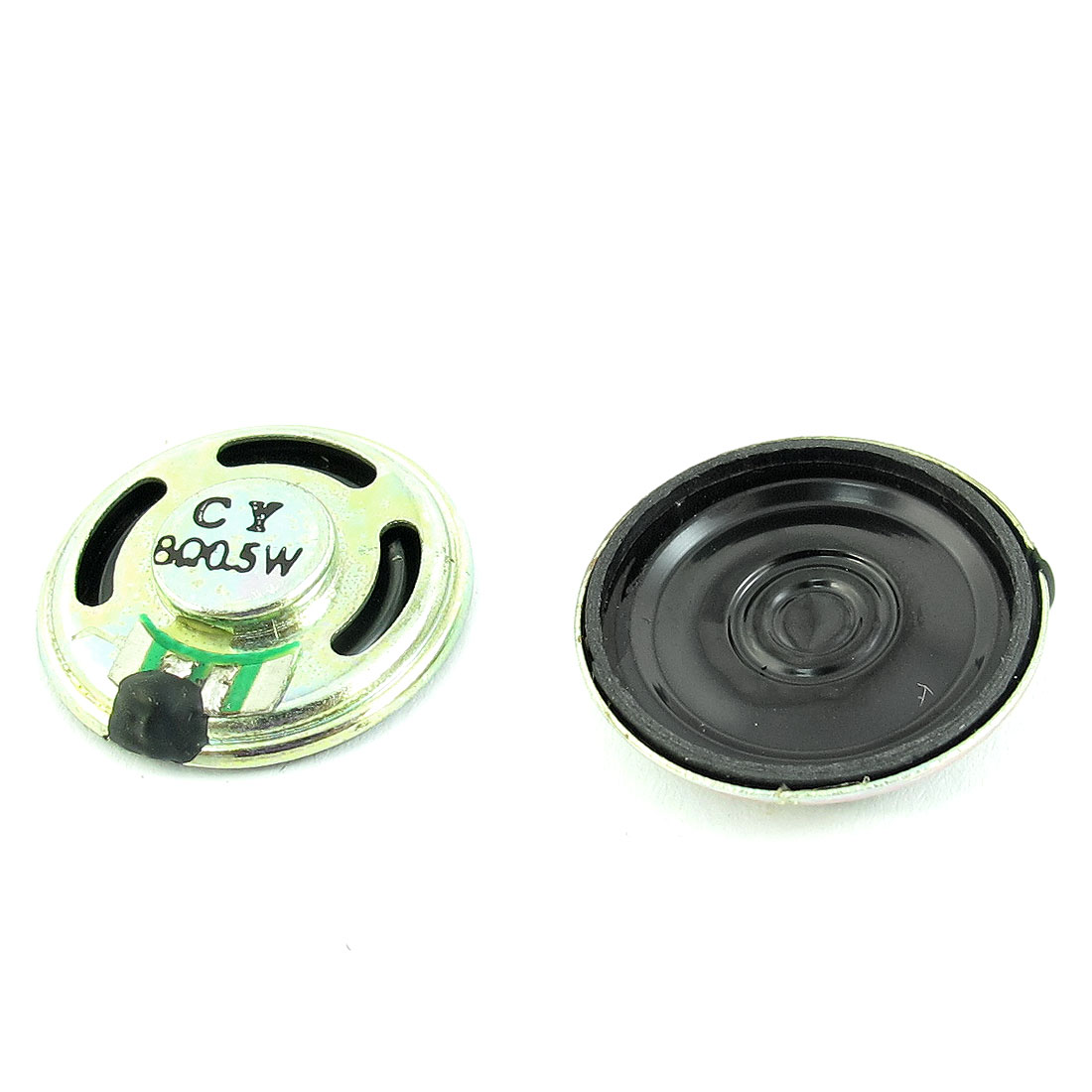 2 Pcs 0.25W 8 Ohm 23mm Diameter Metal Shell Magnet Type Speaker Loudspeaker Horn for Radio Electric Toys