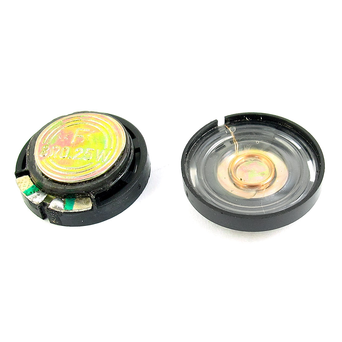 2 Pcs 0.25W 8 Ohm 21mm Diameter Plastic Shell Magnet Speaker Loudspeaker Horn for Radio Interphone Electric Toys