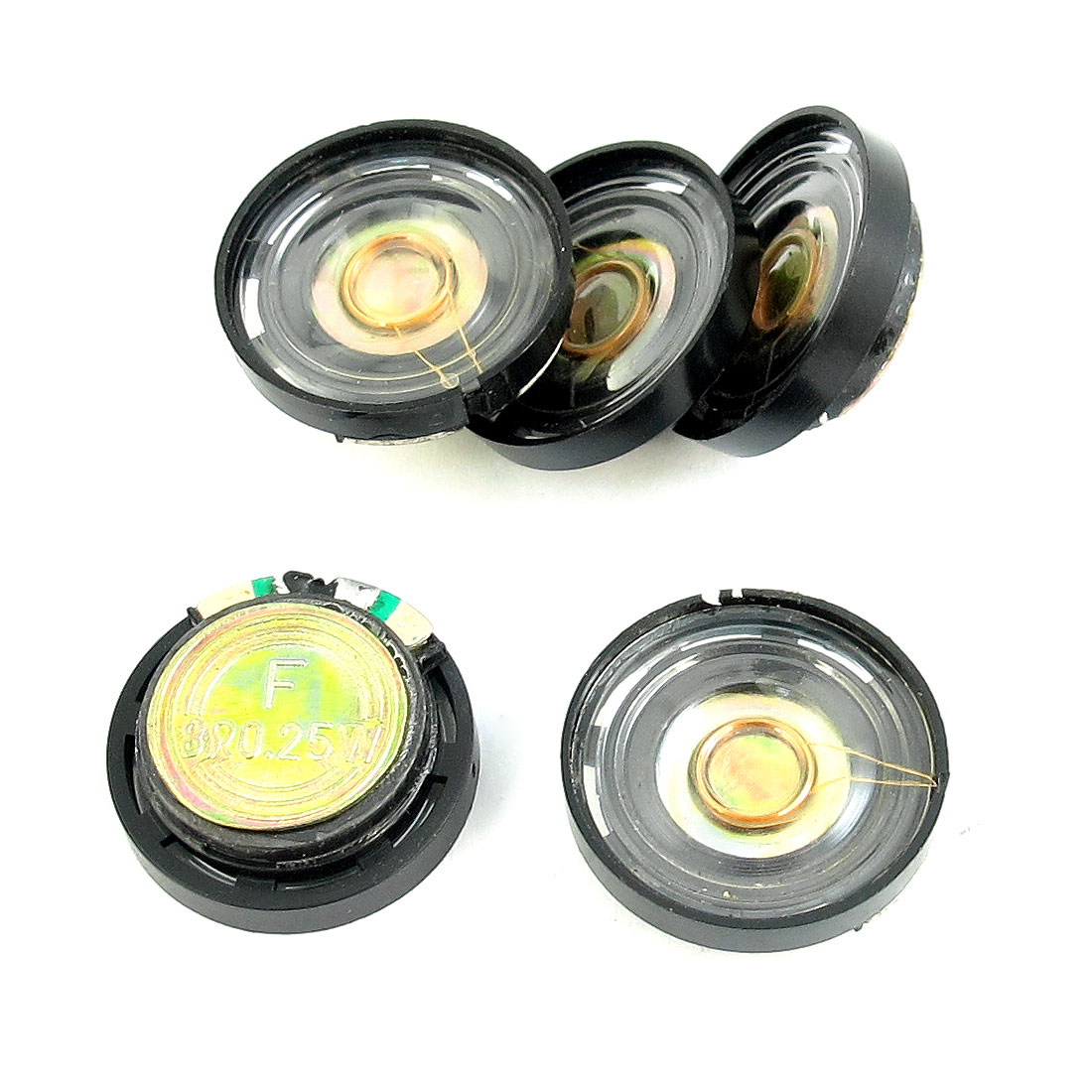 5 Pcs 0.25W 8 Ohm 21mm Diameter Plastic Shell Round Circle Magne Type Speaker Loudspeaker Horn for Radio Electric Toys