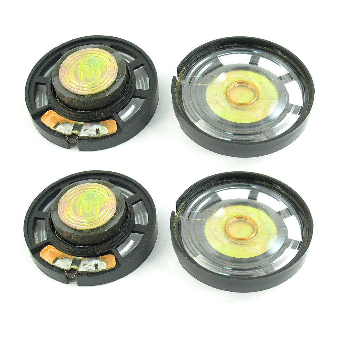 4 Pcs 0.25W 8 Ohm 29mm Diameter Plastic Shell Round Magnet Type Speaker Loudspeaker Horn for Electric Toys