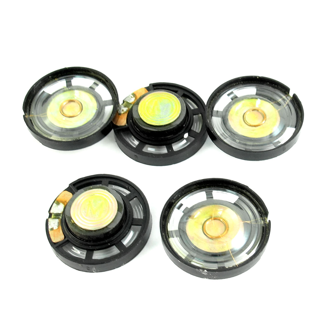 5 Pcs 0.25W 8 Ohm 29mm Round Plastic Housing Magnetic Speaker Loudspeaker Horn for Electric Toys
