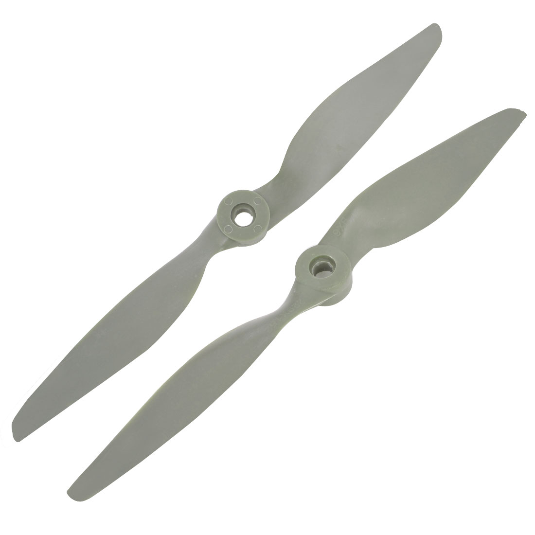 Pair 2 Vanes 9x6 Gray Plastic Propeller for 9.7mm Shaft Dia RC Aircraft Toy