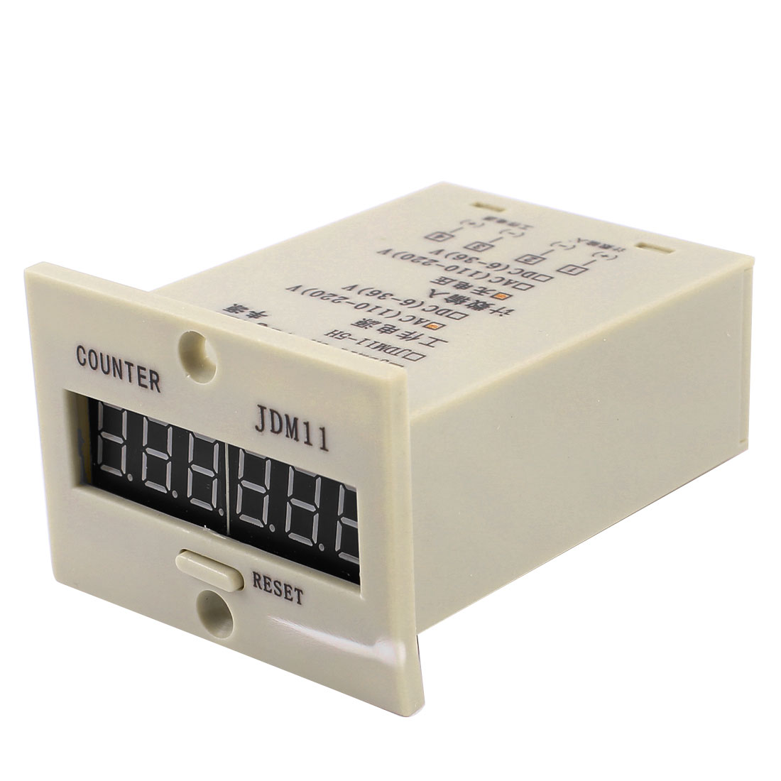 JDM11-6H Resettable 6 Digits LED Display Electric Digital Counter AC110-220V