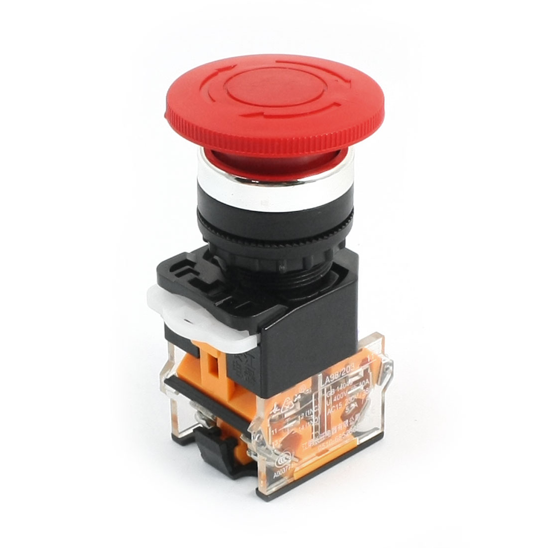 Self Locking Type Red Mushroom Push Button Switch 440V 10A LA38/203