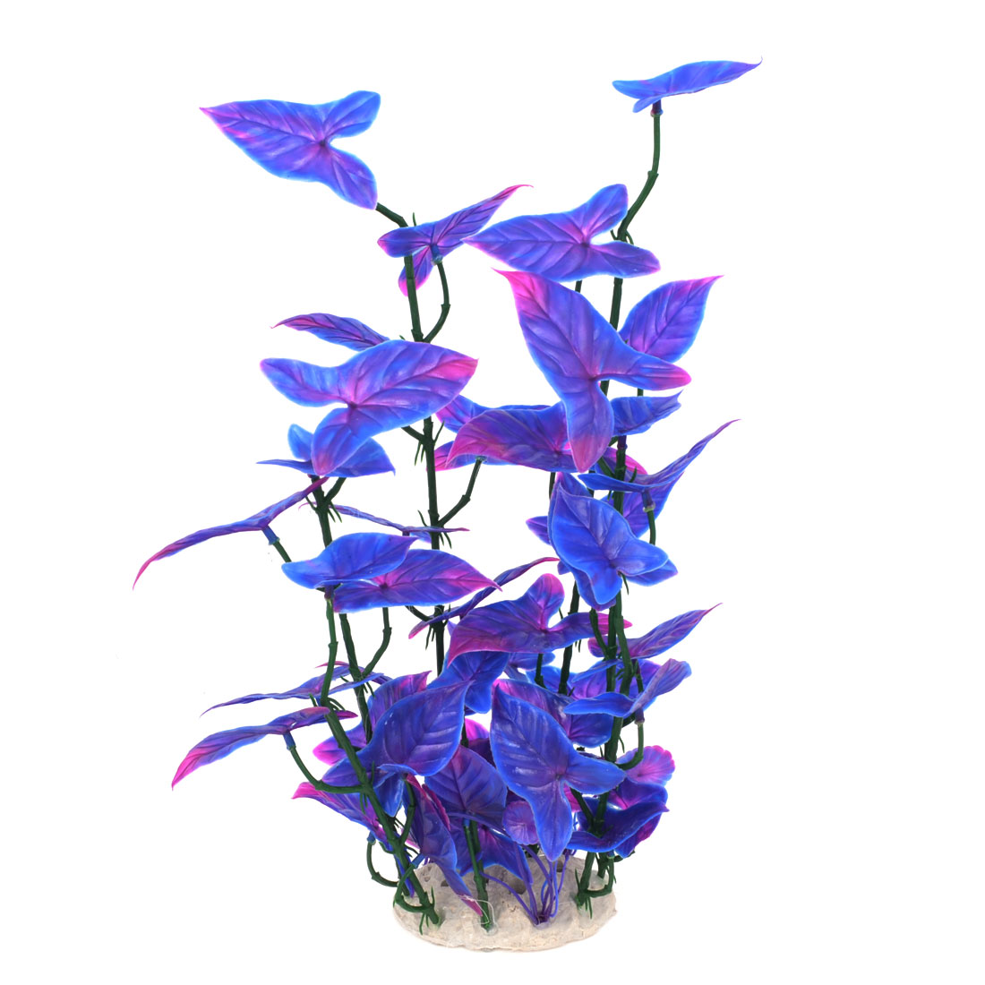 "Aquarium Landscaping 12.6"" Height Purple Blue Artificial Water Plant Decor"