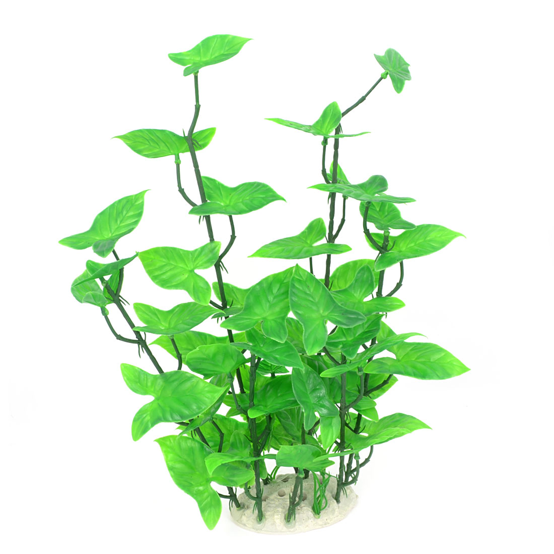 "Aquarium Landscaping 13.8"" Height Green Artificial Water Plant Decor"