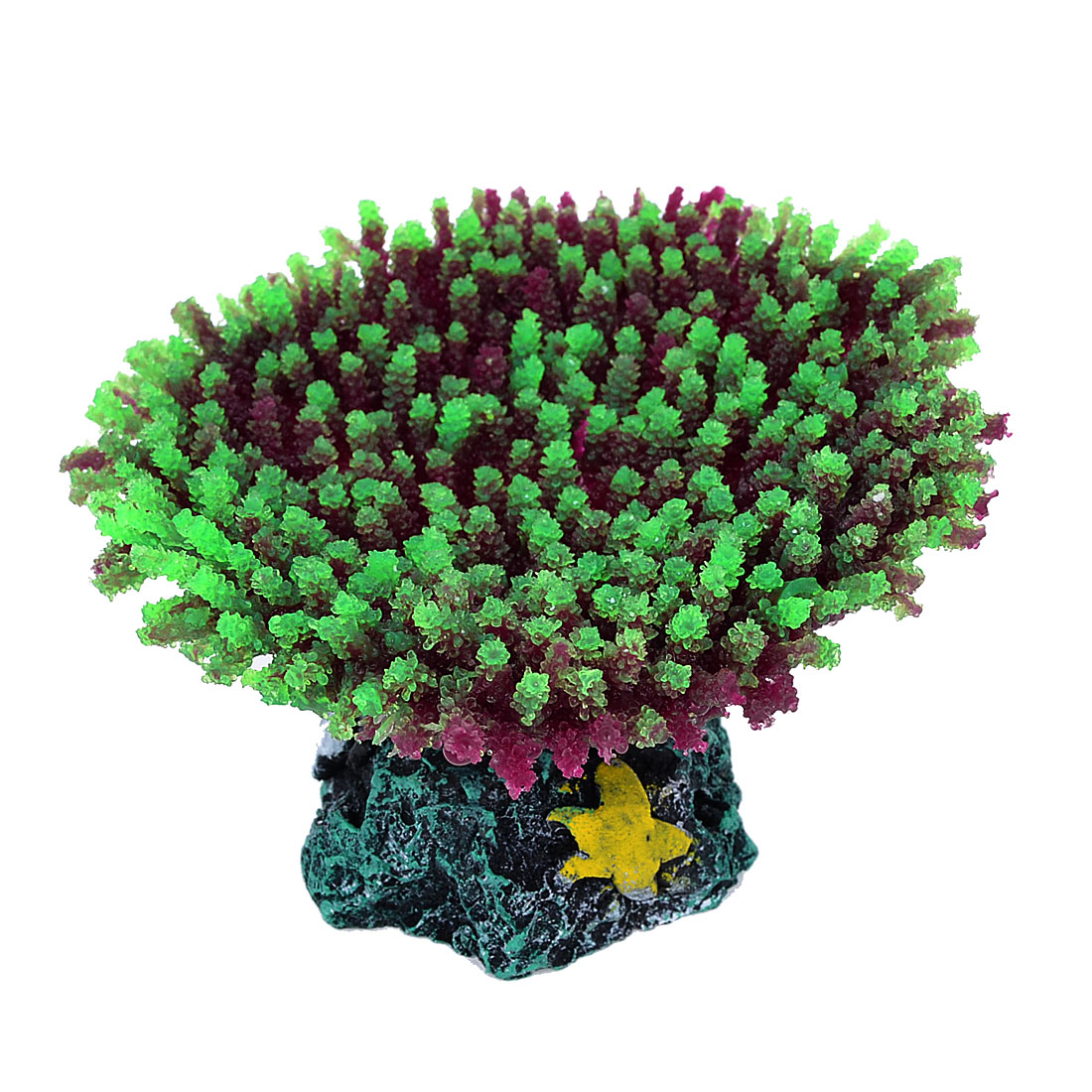 Aquarium Tank Silicone Artificial Sea Anemone Coral Ornament Green 2.2""