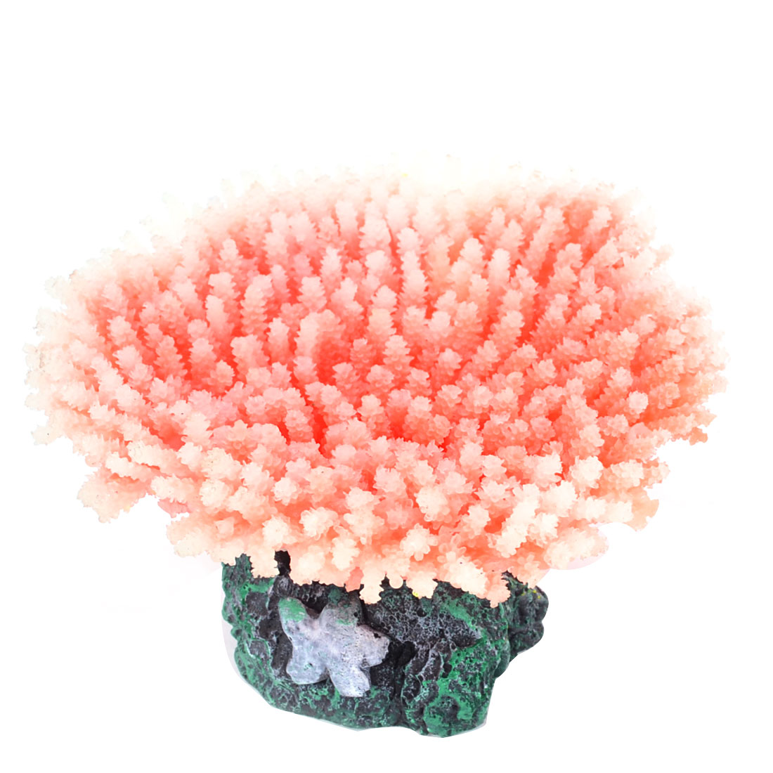 "Fish Tank White Red Silicone Artificial Coral Ornament 1.6"" Height"