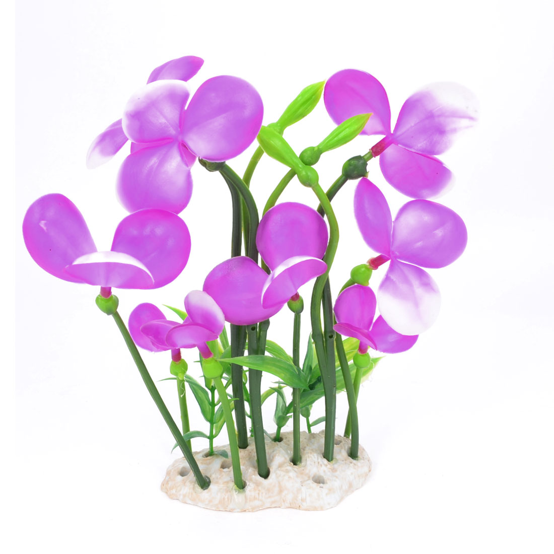 "Light Purple Manmade Simulation Fake Plant Grass Aquarium Landscaping Decor 7.5"""