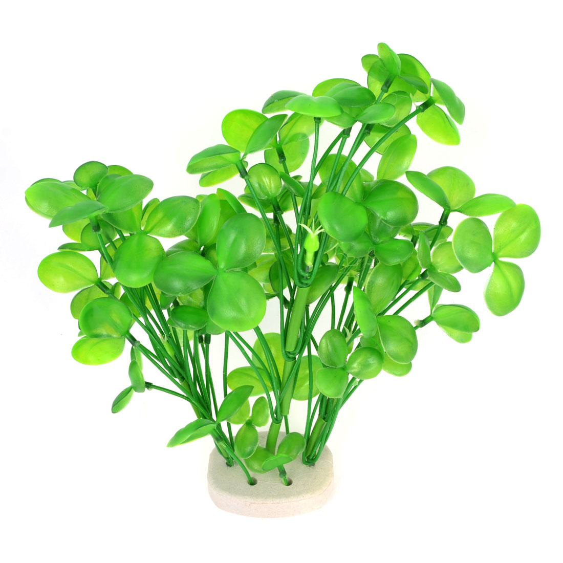 "8.7"" High Aquarium Landscaping Green Plastic Artificial Aquatic Grass Plant"