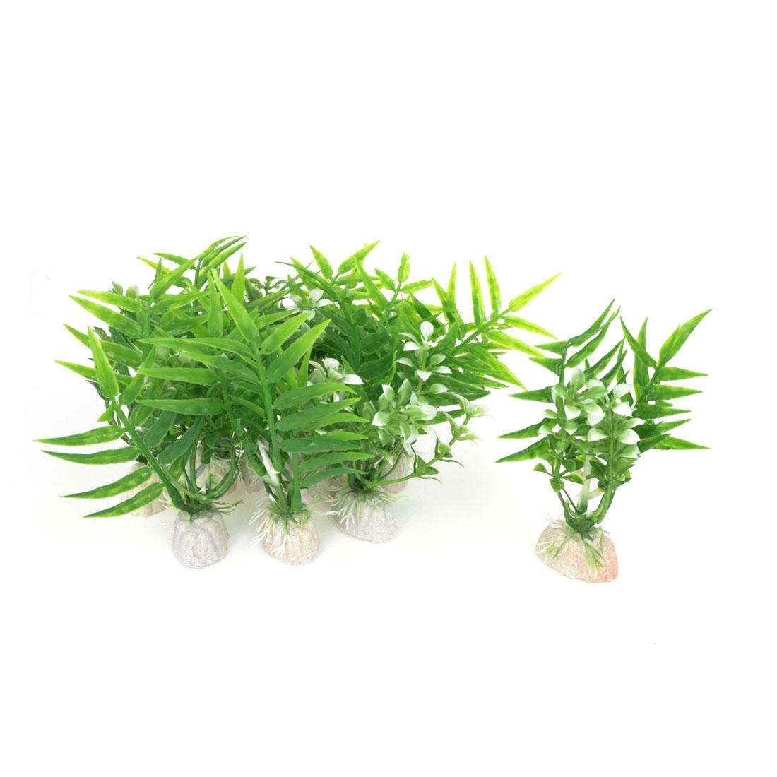 """10 Pcs 3.5"""" High Green Plastic Emulational Underwater Grass for Aquarium"""