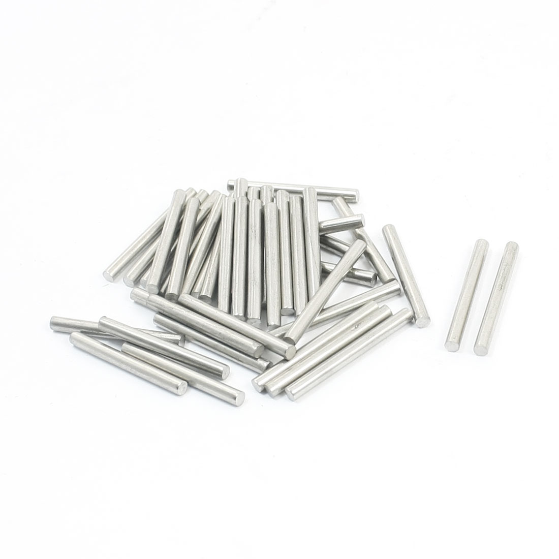40PCS Hardware Tools 25mm x 2.5mm Stainless Steel Round Rod Axle Bars