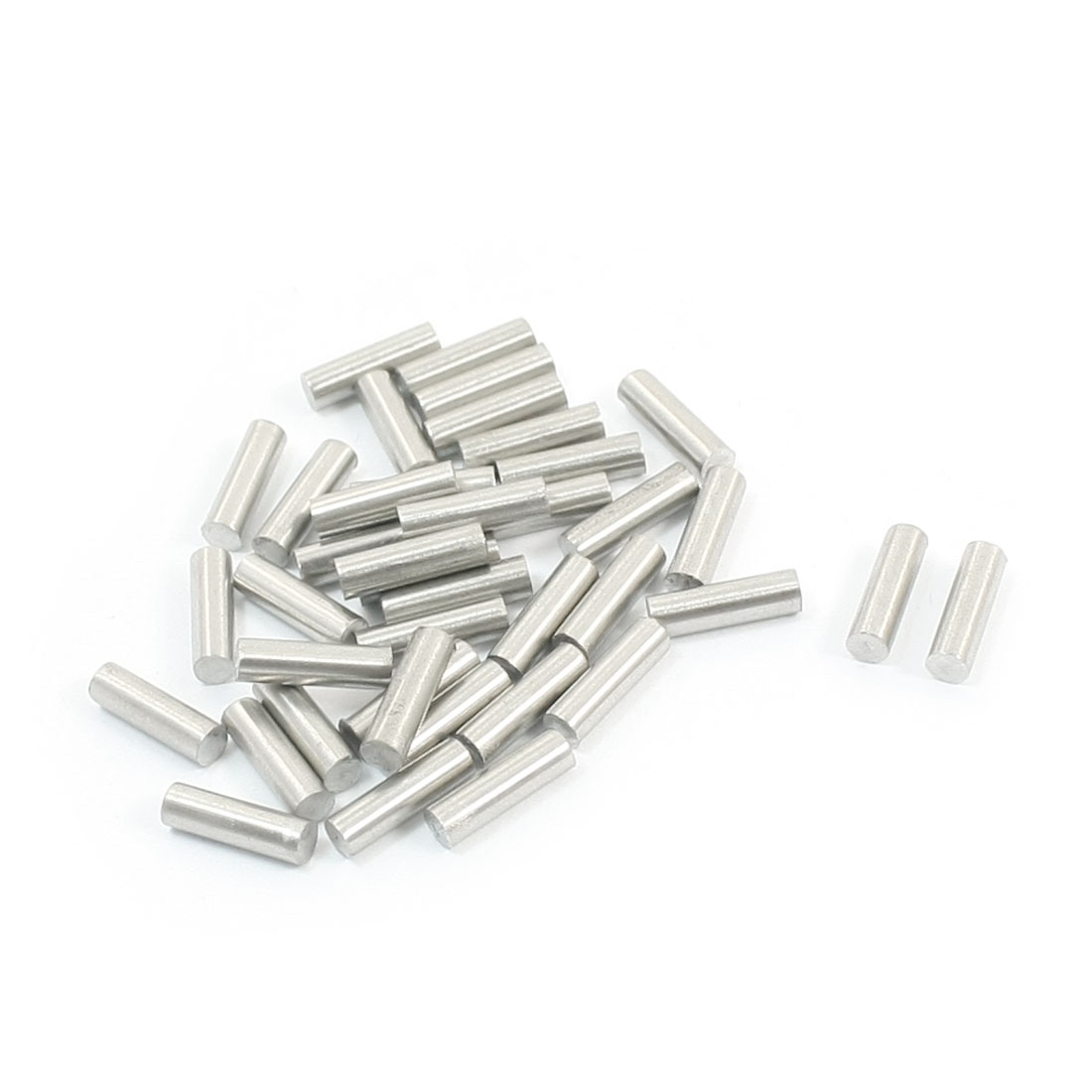 40Pcs Stainless Steel Machinery Parts Component Round Bar 10x3mm