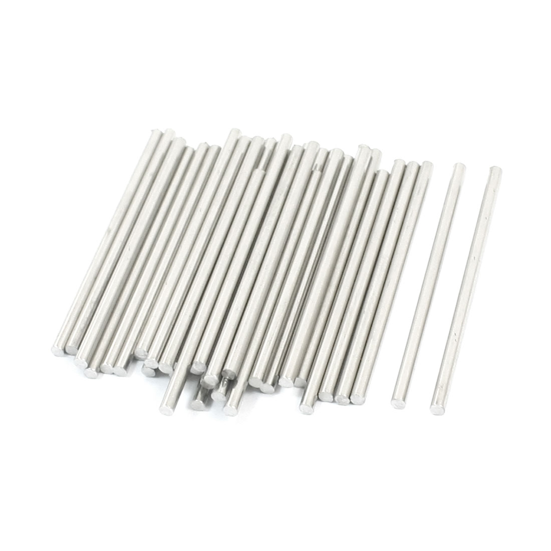 40Pcs 45 x 2mm Hardware Tools Stainless Steel Round Rods for Car Model